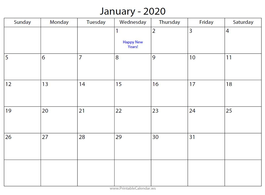 Free Calendar Maker One with Blue Text