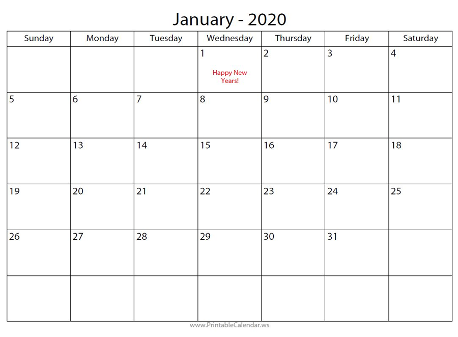 Free Calendar Maker One with Red Text